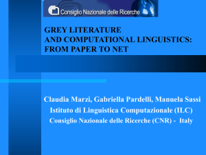 grey literature and computational linguistics from paper to net