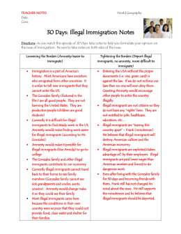 politics payoffs and illegal immigration essay