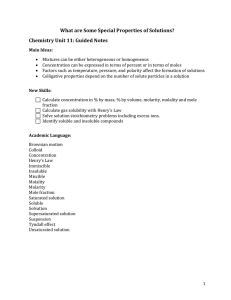 Chem Unit 11 Guided Notes