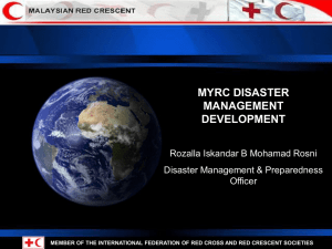 National Disaster Management and Mechanism Policy