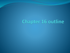 Chapter 16 outline