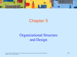 organizationa lstructure and design