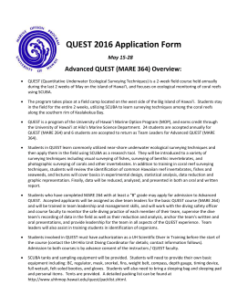 Quest Application form: non-UH system