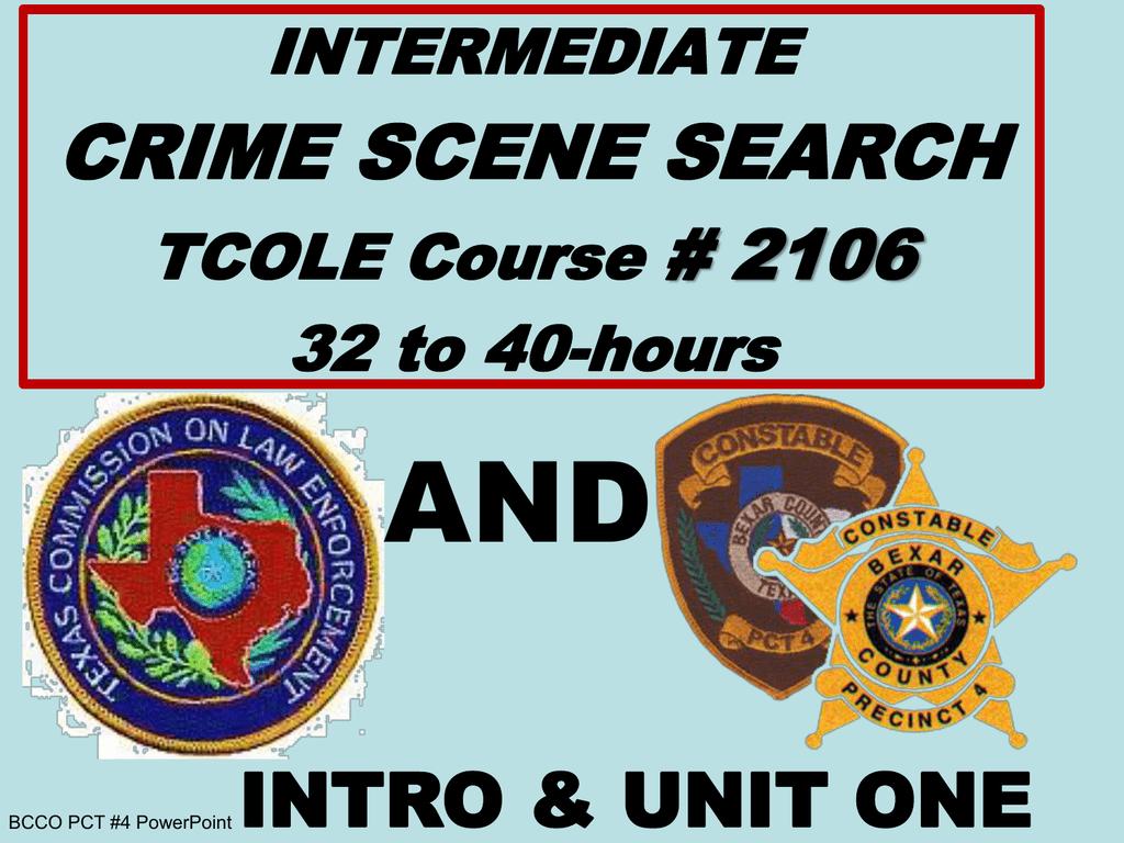 tcole intermediate crime scene 2106