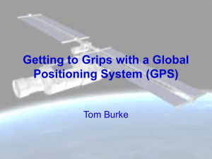 Getting to grips with a GPS