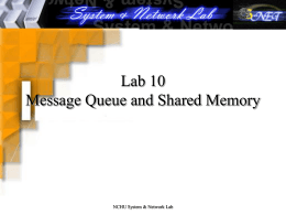 Operating System Lab N: Shared Memory