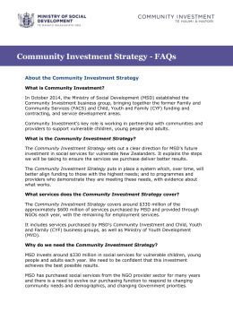 About the Community Investment Strategy