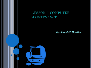 Lesson 4 computer maintenance