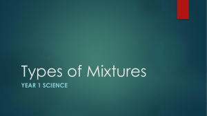 Types of Mixtures PPT