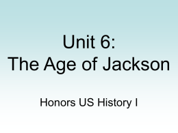 hist 404 week 8 wrap up the jacksonian america era The friday of the first week of classes for fall and spring semesters and the wednesday of the first week of classes for summer semesters hist 4950 internships by arranged enrollment.