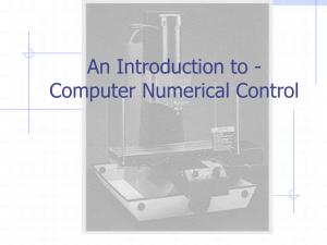 An Introduction to - Computer Numerical Control