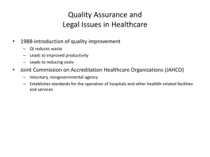 Quality Assurance and Legal Issues in Healthcare
