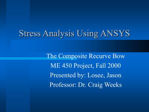 Stress Analysis Using ANSYS