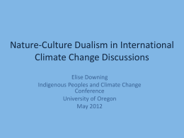 Nature-Culture Dualism in US Climate Change