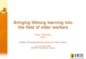 Older workers and lifelong learning