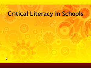 Critical Literacy PowerPoint