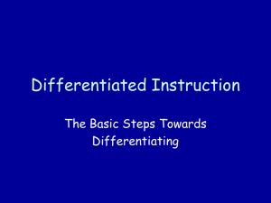 Differentiated Instruction (Powerpoint)
