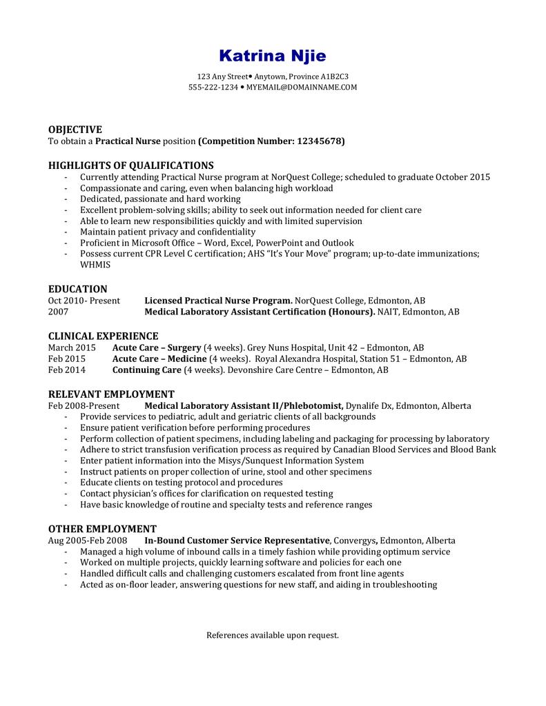 resume & cover letter - MY Nursing portfolio