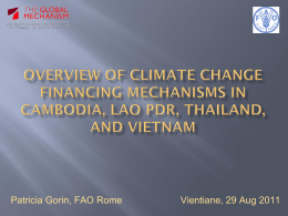 Overview of climate change financing mechanisms in Cambodia