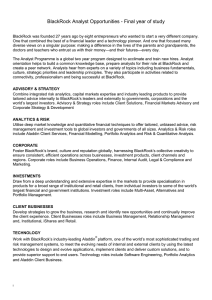 BlackRock Analyst Opportunities - Final year of study BlackRock
