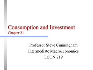 Chapter 20: Consumption and Investment