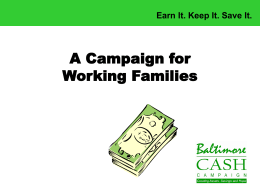 A Campaign for Working Families
