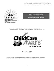 TEACH MINNESOTA Sponsoring Center Manual