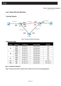 Lab 1: Basic Routing Revision