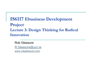 Lecture 2 (design thinking)