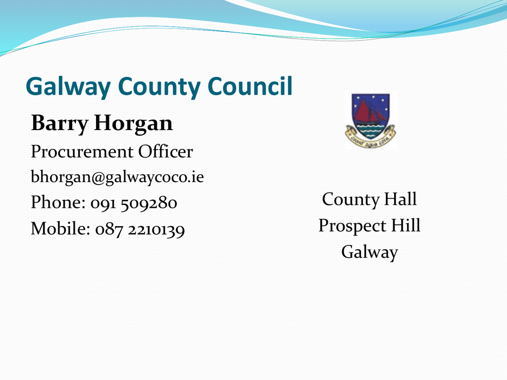 Barry Horgan- Galway County Council