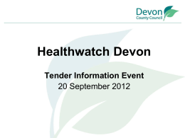 Presentation - Devon County Council