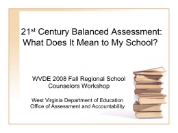 PowerPoint - West Virginia Department of Education