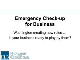 Emergency Check-up for Business