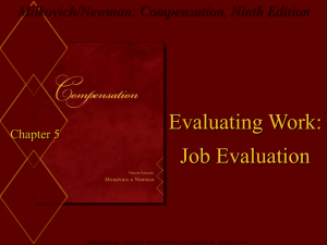 Job evaluation