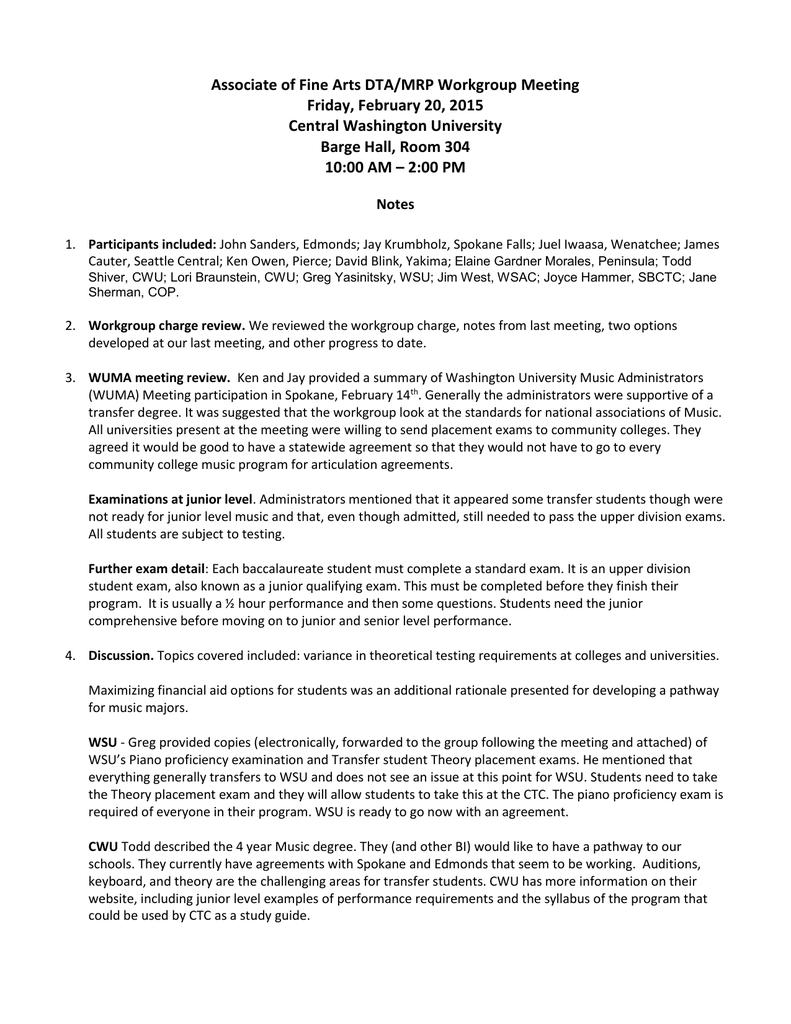 Dta Afa Work Group Meeting Notes Feb 20 2015