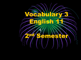 Vocabulary 4 English 11