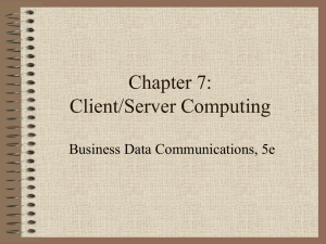 Client/Server and Intranet Computing