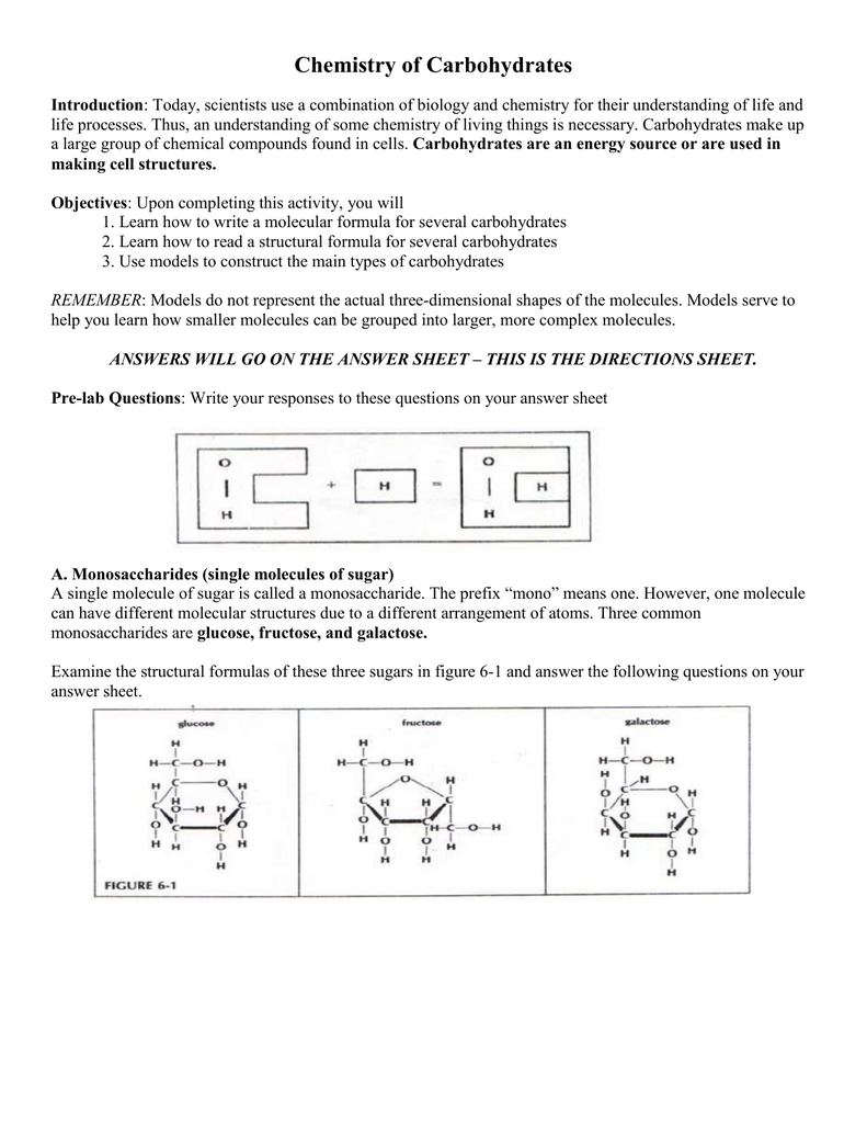 Chemistry Of Carbs Activity 60