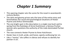 a description of the summary of the scarlet letter