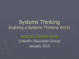 Test Drives - Systems Thinking World