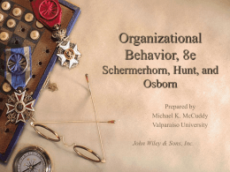 Chapter 6: Motivation and Reinforcement