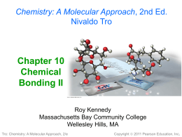 Chapter 10 Chemical Bonding II - Suffolk County Community College