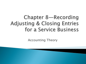 Chapter 7-Financial Statements for a Proprietorship
