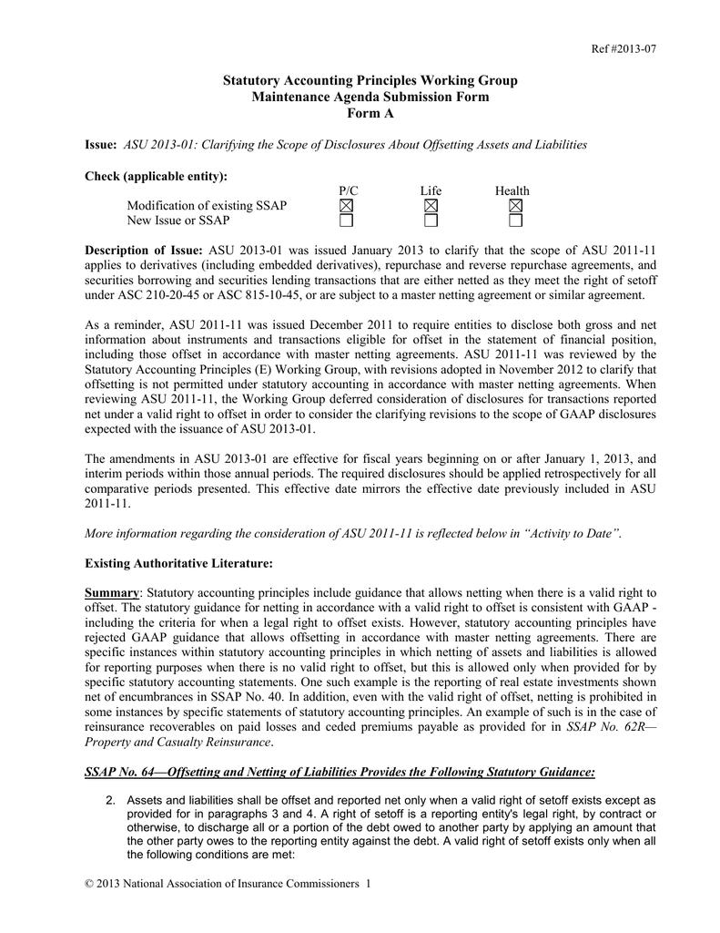 Statutory Accounting Principles Working Group