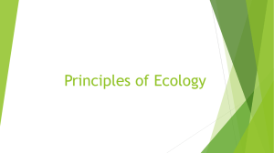Principles of Ecology Notes