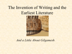 Early Writing and Gilgamesh PowerPoint