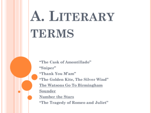 Literary and dramatic terms