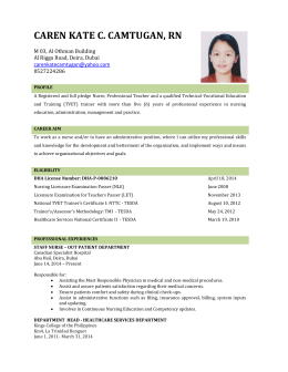 caren kate camtugan updated CV