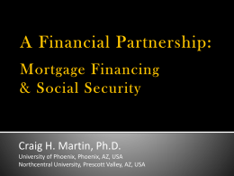A Financial Partnership - University of Phoenix Research