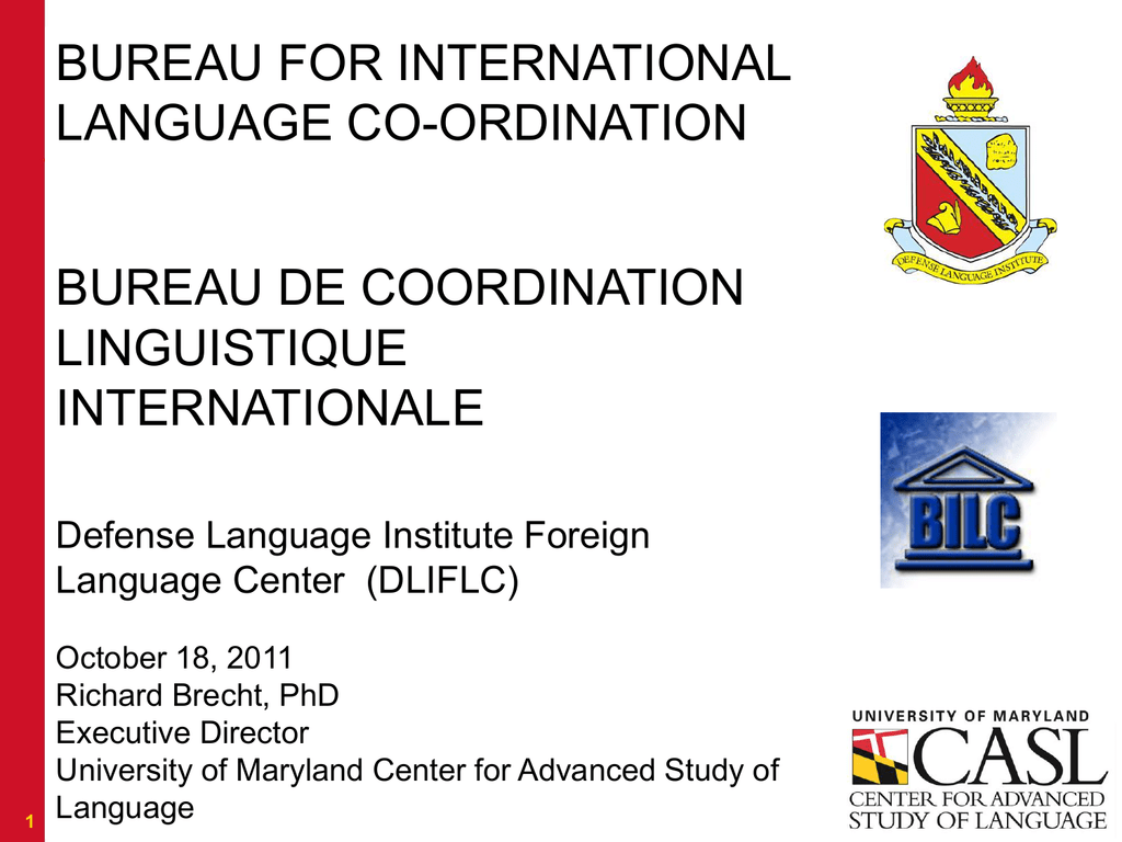 2 - Bureau for International Language Coordination